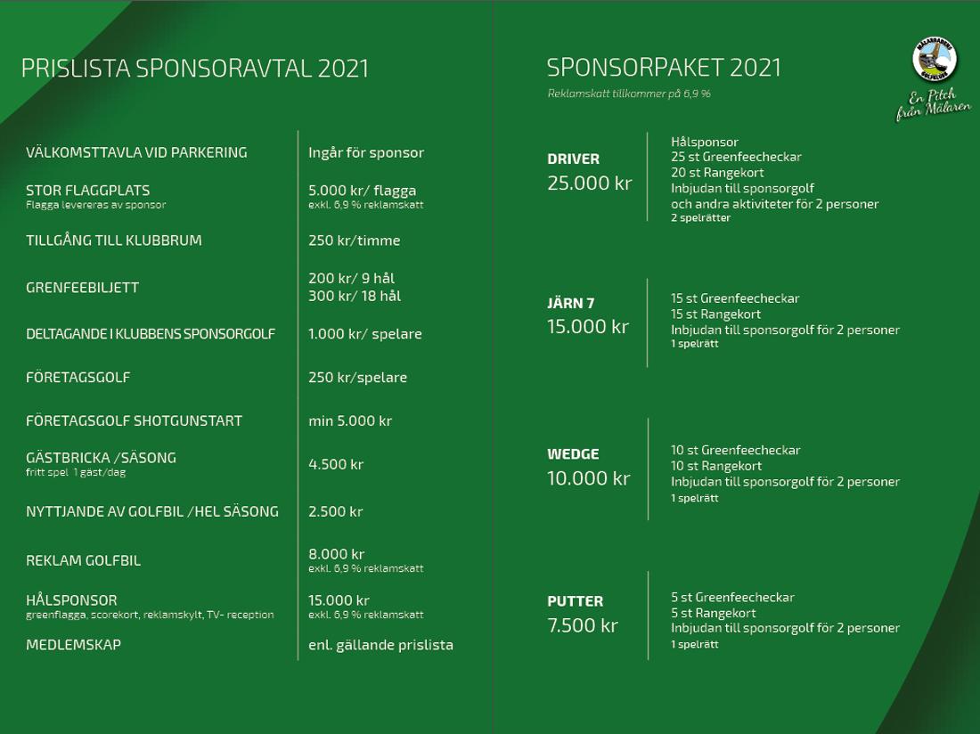 MBGK- sponsorpaget priser 2021